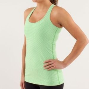 LULULEMON Cool Racerback Gingham Frond Green White